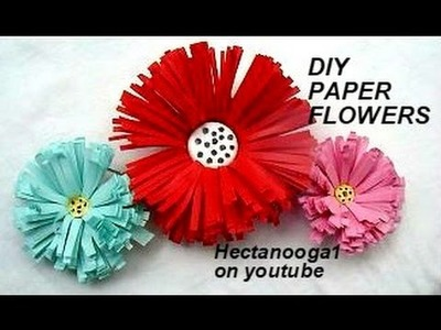 Diy - PAPER FLOWERS, Fireworks flower, paper decorations