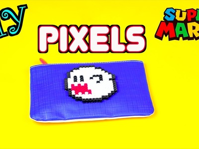 DIY Perler Beads Creation - Super Mario Ghost Boo Pixels Tutorial for Halloween