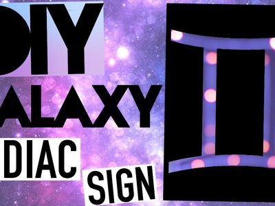 DIY Tumblr Room Decor! Galaxy Sign!