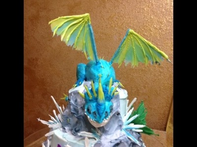 Dragon in Buttercream- Short Version- Cake Decorating- How to Train  Your Dragon