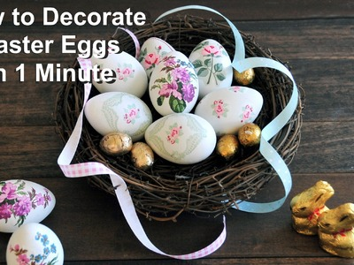How to Decorate Easter Eggs in 1 Minute