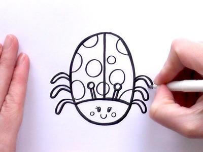 How to Draw a Cartoon Ladybug