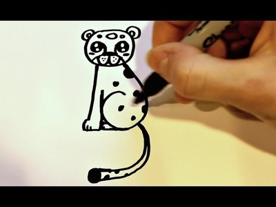 how to draw a leopard easy