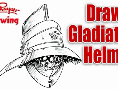 How to draw a Roman Gladiator Helmet