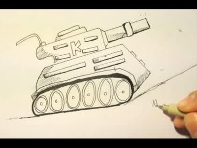 How To Draw A Tank|Step By Step|Easy|For Beginners|Kid