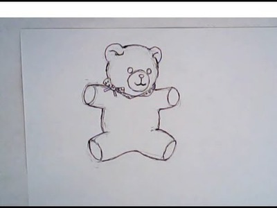 How to draw a teddy bear (simple drawing)