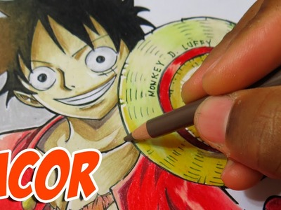 How to Draw Monkey D. Luffy - One Piece - Time Lapse
