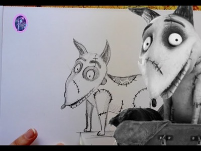 How to Draw SPARKY from Tim Burton's FRANKENWEENIE - @dramaticparrot