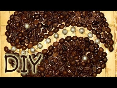 How to Draw with Coffee Beans - Coffee Appliqué Decoration