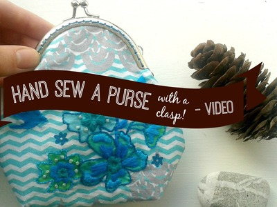 How to hand sew a Purse with lining - Purse making tutorial Part 1