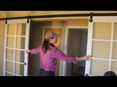 How to install pair of sliding barn doors with RLP V track hardware.