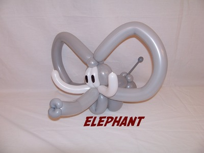 How to make a Balloon Elephant by Stretch the Balloon Dude
