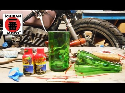 How to make a glass from a bottle then  enter the 5 hour energy contest  by Ichiban Moto