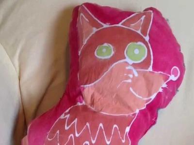 How to make a Glue Batik Pillow