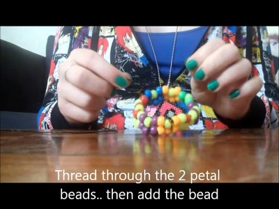 How to make a Kandi Flower Bracelet.Cuff.