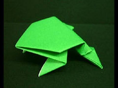 How To Make A Paper Jumping Frog [HD]