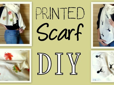 How to Make a Printed Scarf from Scratch- DIY- November Fashion | by Fluffy Hedgehog