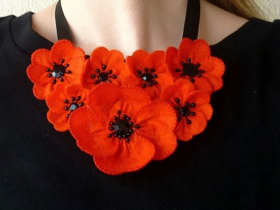 How To Make A Summer Poppy Necklace - DIY Style Tutorial - Guidecentral