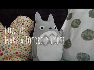 How to: Make a Totoro Plushie (no sew)