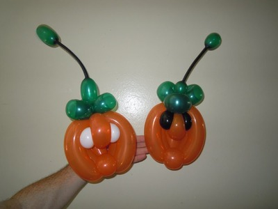 How to make balloon pumpkin bracelet