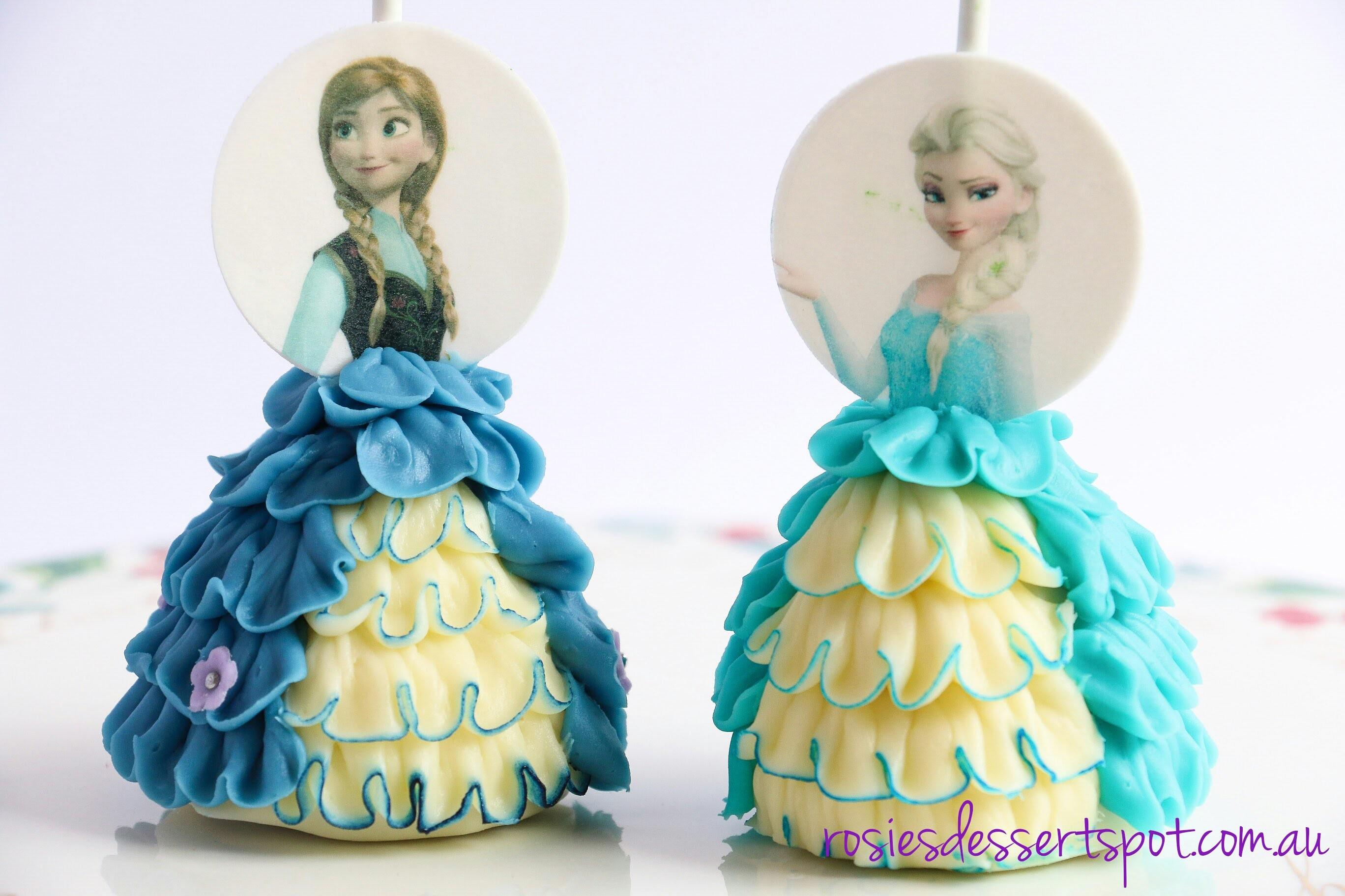 How to make frozen cake pops. Princess cake pop dress tutorial