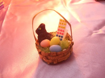How To Make Miniature Dollhouse Easter Grass