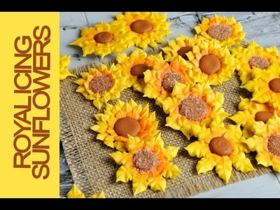 HOW TO MAKE ROYAL ICING SUNFLOWERS, HANIELA'S