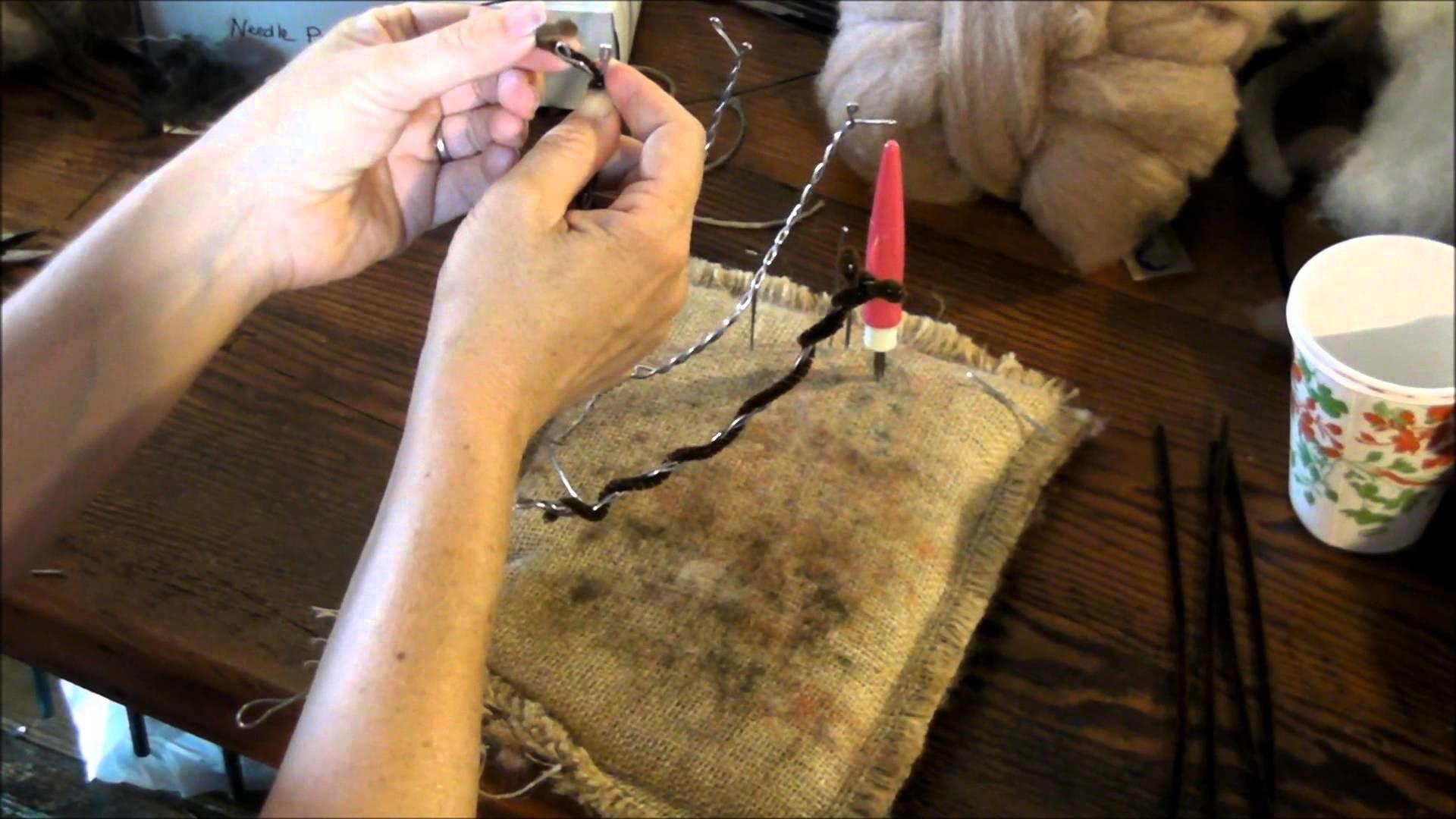 How To Needle Felt Cloven Hooves