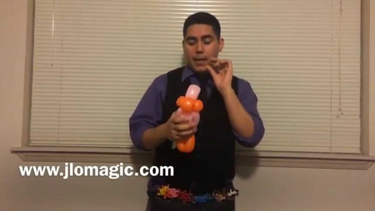 How to twist a Balloon Bird by JLO Magic & Entertainment