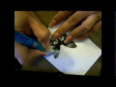 JUSTAFEW -  How to make a GLITTERY BUTTERFLY . purdy!