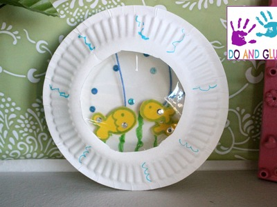 Kid craft  How to Make a Paper Plate Aquarium