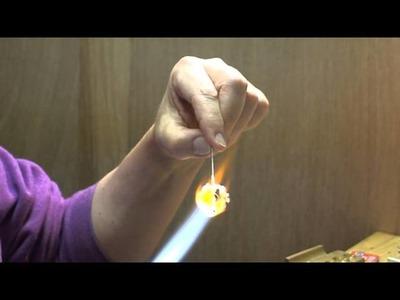 Lampwork Bead Tutorial #3 - Floral Bead by eskiebeads
