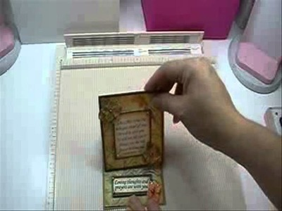Making a 4x4 Easel Card with one sheet of cardstock (Inspiredstamps.com)