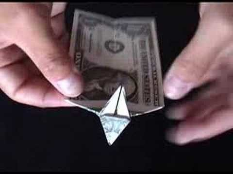 Money Origami | Dollar Bill Origami Dog - Made from a one Dollar Bill Note