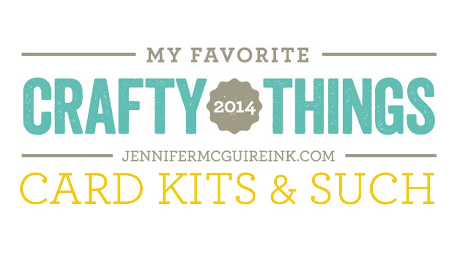 My Favorite Crafty Things 2014 - Kits, Planners and Accessories