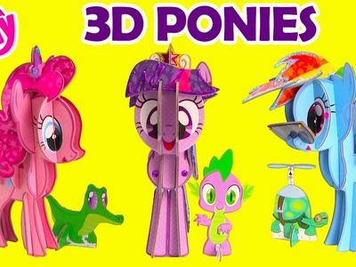 My Little Pony 3D Pony Pinkie Pie, Twilight Sparkle, and Rainbow Dash
