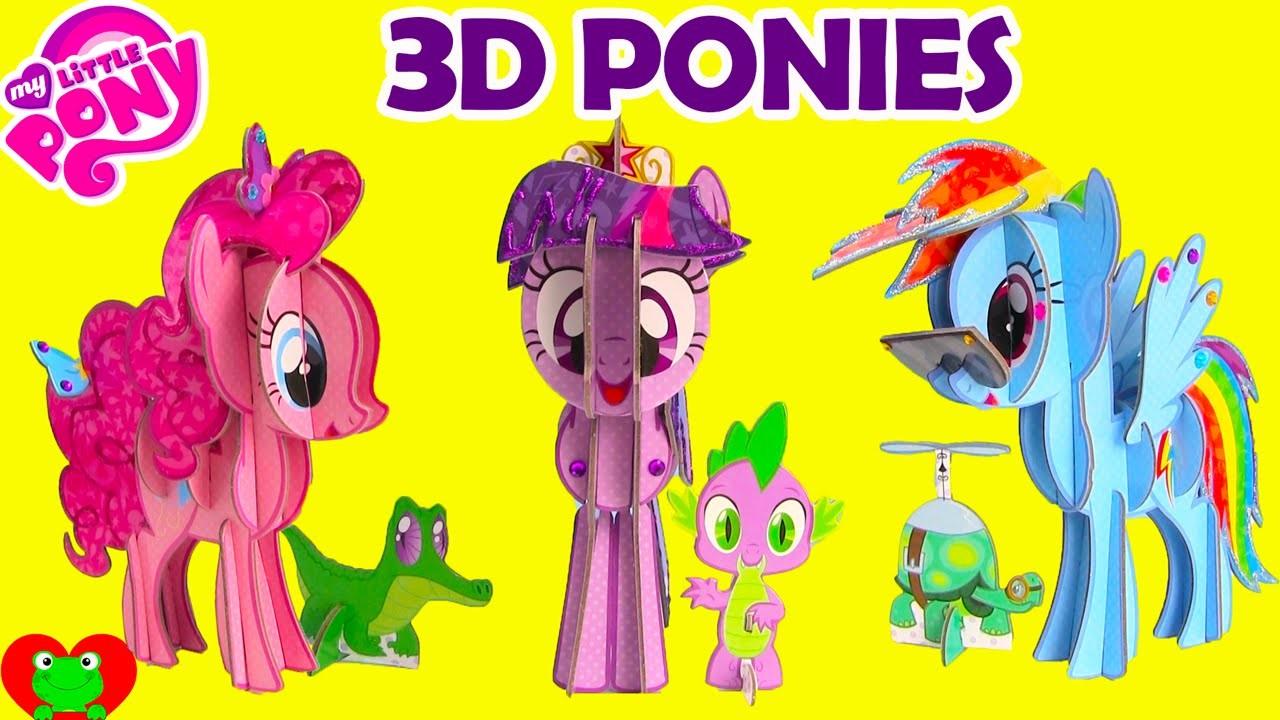 My Little Pony 3D Pony Pinkie Pie, Twilight Sparkle, and Rainbow Dash
