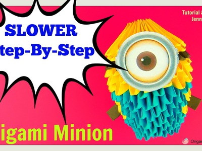 Origami 3D Minion - 3D Origami Paper Minion Tutorial - Step-by-Step Instructions
