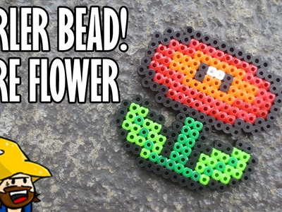 PERLER BEAD: MARIO FIRE FLOWER