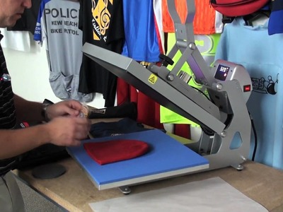 Producing heat press transfers with a solvent printer cutter