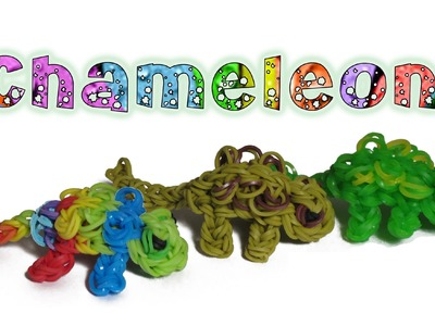 Rainbow Loom 3D Chameleon charm.Figure - How to - Animal Series
