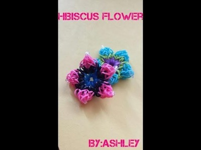 Rainbow loom hibiscus Flower.(very easy and quick)