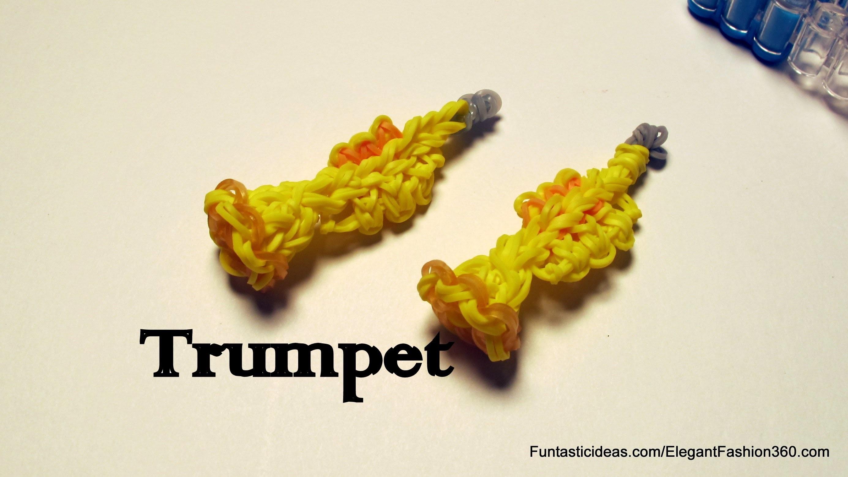 Rainbow Loom Trumpet Charm - How to - Emoji.Emoticon
