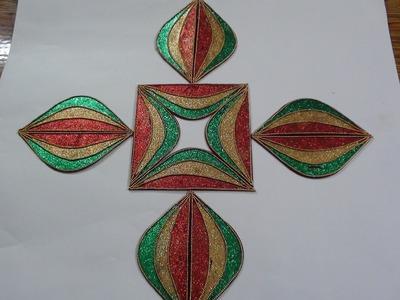 Rangoli with Glitter to create Multi Designs