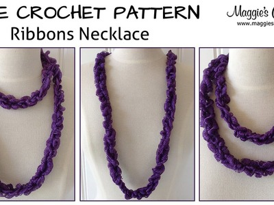 Ribbons Necklace Free Crochet Pattern - Right Handed