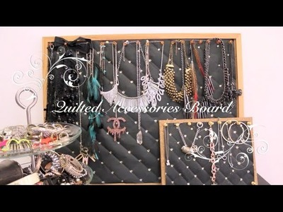 "Room Ideas: DIY ""Quilted"" Accessories Board"