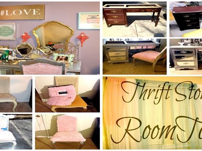 Room Tour. How To DIY. Thrift Store Decor Tips