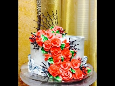 Roses and Spiderwebs -Cake Decorating- How To