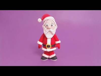 Santa Claus - How to make  a clay Santa