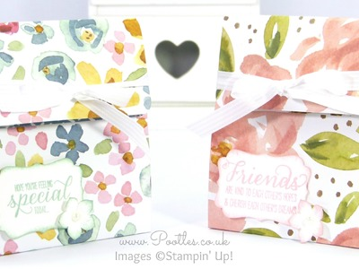 Stampin' Up! Pretty English Garden Bag Tutorial